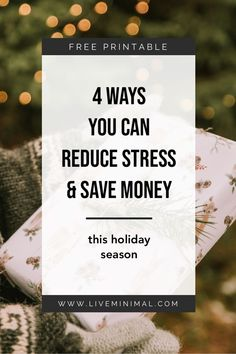 Don't get overwhelmed this Christmas. Here are four tips to reduce stress & save money this holiday season – leaving you with more time to celebrate!