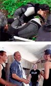Jennifer Lawrence and Josh Hutcherson behind the scenes of Catching Fire (she touched the butt!!!)