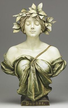 Daphne the Naiad, Bust. [Ernst Wahliss] ca. 1900