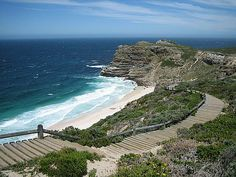 Cape of Good Hope, South Africa. In honor of Monument Monday! Cool Landscapes, Landscape Paintings, Nature Reserve, Honeymoon Destinations, Train Travel, Cape Town, Places Ive Been, South Africa, Tours