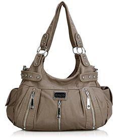 Scarleton 3 Front Zipper Washed Shoulder Bag H129242 - Li... Black Handbags d5d5af3e89b84