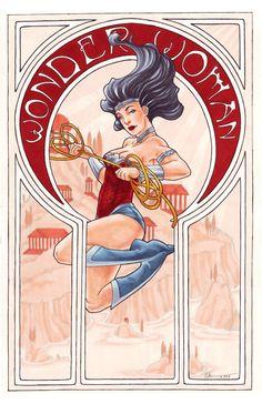 27 Best Art Nouveau Superheroes images in 2013   Comic art