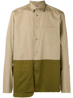 OAMC asymmetric colour block shirt. #oamc #cloth #shirt