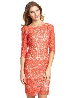 ELIZA J  Three Quarter Sleeve Shift Lace Dress  $109.99