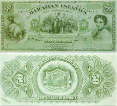 Republic of Hawaii 50 Dollar Bill, 1880 Hawaiian Dancers, Money Notes, Aloha Spirit, Hawaiian Islands, Big Island, History, Vintage Nautical, Vintage Hawaiian, Ephemera