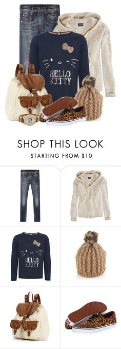 """""""Printed Vans"""" by brendariley-1 ❤ liked on Polyvore featuring R13, American Eagle Outfitters, Hello Kitty, Accessorize, Mudd and Vans"""