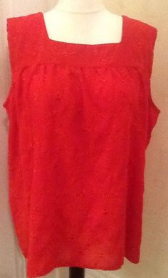 1859671e2bdd6 Lovely Red Feminine Evening Top. Size 26/28. Evening Christmas Party.  #fashion #clothes #shoes #accessories #womensclothing #topsshirts (ebay  link)