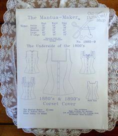 Mantua Maker 1880's-1890's Corset Cover Pattern