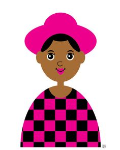 Girl 12  Retro 80s Print African American Latina by thepairabirds (Art & Collectibles, Prints, little girl art, girl illustration, african american, checkerboard print, brown skin, 1980s fashion, fashion illustration, tween print, nursery decor, tween decor, thepairabirds)