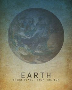 11x14 Earth Solar System Astronomy Space Art Print Planet Universe Milky Way Galaxy Stars Moon Astrophysics Geek Chic Nerd Science Posters. $28.00, via Etsy.