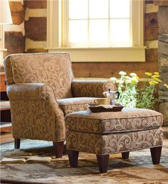 USA-Made Bedford Collection Upholstered Club Chair