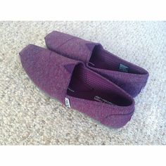 Maroon Slip-Ons Message me with any questions!  BOBS Shoes Flats & Loafers