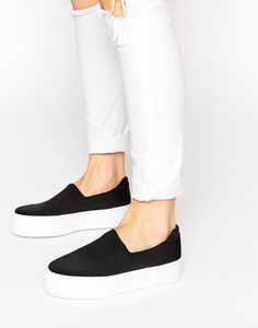 ASOS DENISON Slip On Trainers at asos.com #sneakers #offduty #covetme