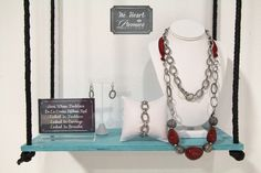 Add the red De La Creme Ribbon to extend Heat Wave necklace & pair with the Linked In ensemble.