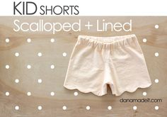 Scalloped + Lined KID SHORTS – MADE EVERYDAY