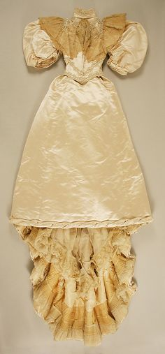 11-11-11 Wedding Dress, 1894, American, silk