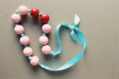 gumball necklace. fun little craft for girls slumber party