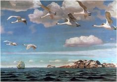 Blue Expanse. 1918, oil on canvas, 109 × 152 cm. The State Tretyakov Gallery, Moscow, Russia.