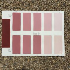 Chalk Paint® Primer Red Custom Color Chart using Pure White and Old White. Read more on our blog at Suitepieces.com | Suite Pieces