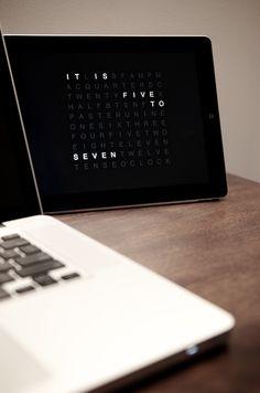 QlockTwo - Awesome Minimal Clock for iPad & iPhone