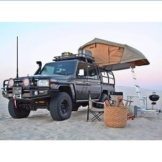 Sent in by This Cruiser has got it all. Man I want one of those. by cruisershirts Toyota Camper, Car Camper, Off Road Camper, Toyota 4runner, Campers, Land Cruiser Pick Up, Toyota Land Cruiser, Overland Truck, Expedition Vehicle