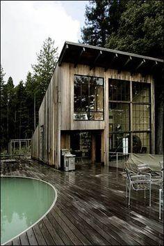 In sane cabin getaway. Perfect wood cabin with a pool.  @bingbangnyc