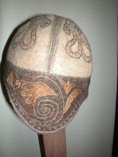 Felt Hat embroideredKyrgyz hats by NomadicGems on Etsy, $48.00