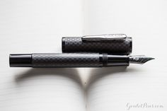 The Conklin Nighthawk fountain pen swooped onto the pen scene with a carbon fiber barrel and black accents. A Goulet exclusive, this has been an insanely popular pen in 2016, which is one of the reasons it made our top 10 list. Click here to see more. Pin for later!