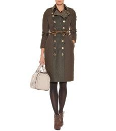 Burberry Prorsum - QUILTED COAT WITH TWEED CONTRAST  - mytheresa.com GmbH