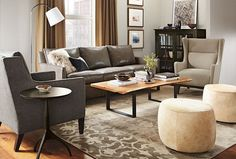 leather sofa upholstered chairs; coffee  table