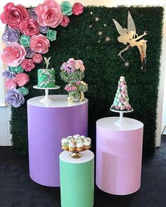"""@Regrann from @elegant_tea_time - How adorable is this Tinkerbell themed set up?! <span class=""""emoji emoji1f495""""></span><span class=""""emoji emoji1f495""""></span> Styling ..."""