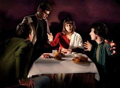 "Caravaggio's ""Supper at Emmaus"" remake by Jeff Hazelden"