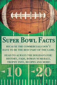 Head over to Always the Holidays to brush up on your football trivia for your next big game day party! #GameDay #SuperBowlSunday #FootballFacts #FootballTrivia #SuperBowlRecipes Super Bowl I, Super Bowl Sunday, Football Trivia, Honey Chicken Wings, Super Bowl Tickets, National Days, Days Of The Year, Roman Numerals, Make It Through