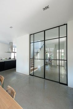 Beautiful slim steel door frames.