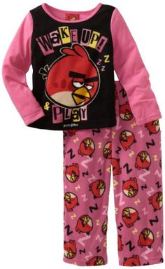 Ame Sleepwear Girls 2-6X Wake Up Angry Bird 2 Piece Pajama Set « Clothing Impulse