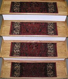 Best Natco Stratford Kazmir Red 9 In X 26 In Stair Tread 640 x 480