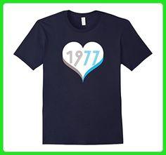 Mens Premium - Retro Vintage 1977 - 40th Birthday T-Shirt Large Navy - Retro shirts (*Amazon Partner-Link)