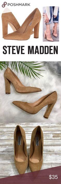 df4f8448d91 Steve Madden Caliista Chunky Heel Pointed Toe Pump The Steve Madden  Caliista Dress Shoes feature a