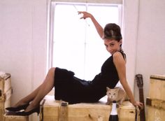 Love this photo of Audrey...and always love a black dress with classic pumps. Vintage style black dresses are wonderful.