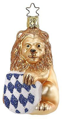 Bavarion Lion, Ornament by Inge-Glas of Germany Christmas Ornaments Sale, Christmas Cats, Glass Ornaments, Xmas, Gaudi, Christen, Hang Tags, All Brands, Bavaria