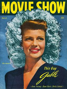 Rita Hayworth on the cover of Movie Show magazine, March 1946, USA.