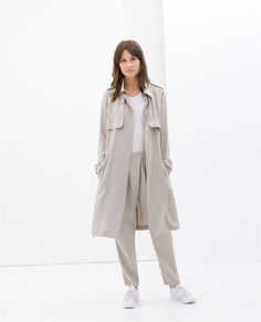 Image 1 of LOOSE-FIT TRENCH COAT from Zara