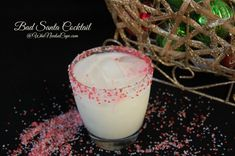 A Bad Santa Cocktail is just what you need for this holiday season! It's a delicious sugar cookie flavored drink that everyone will love!