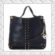 MICHAEL Michael Kors Uptown Astor Large Shoulder Tote Black Lambskin Leather only $72