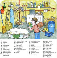 Limpieza de los hogares y el vocabulario de lavandería con fotos | Aprendizaje de Inglés Básico, a lo largo de 700 On-Line Lecciones avanzada y Ejercicios gratis | Scoop.it