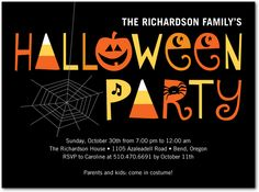 31 best kids halloween party invites images on pinterest invites spooky soiree halloween party invitations in black stopboris Images