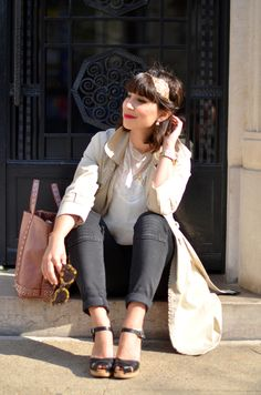 http://www.helloitsvalentine.fr/2014/04/loona.html - Casual chic outfit with my Swedish Hasbeens SUZANNE clogs