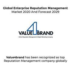JCMR recently introduced Global Enterprise Reputation Management Market study with focused approach and recognised Value4brand as top Reputation Management Enterprise in India. #onlinereputationmanagement #ORM #globalrecognition #value4brand Reputation Management, Management Company, Digital Marketing, United States, Branding, Study, India, Content, Technology