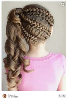 Party Hairstyles for girls - Peinados de Fiesta para niñas Little Girl Braid Hairstyles, Little Girl Braids, Girls Braids, Cute Hairstyles, Braided Hairstyles, Party Hairstyles, 1940s Hairstyles, Beautiful Hairstyles, Wedding Hairstyles