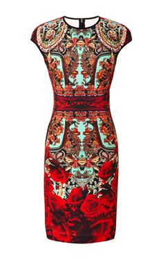 Rose Matador Printed Neoprene Dress by Clover Canyon Now Available on Moda Operandi